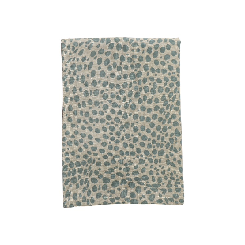 Raine & Humble | Animal Print Tea Towel - Spot Silver Blue | Shut the Front Door