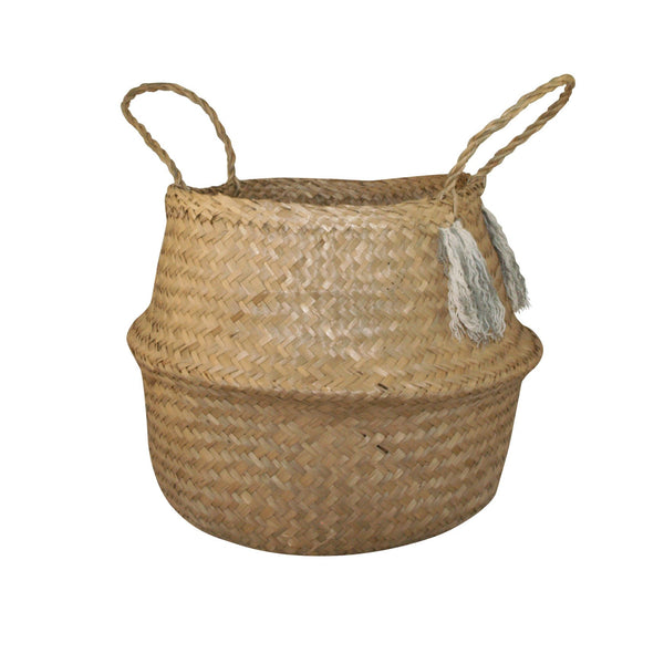 General Eclectic | Seagrass Belly Basket Tassle | Shut the Front Door