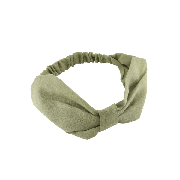 Tiger Tree | Linen Headband - Olive | Shut the Front Door
