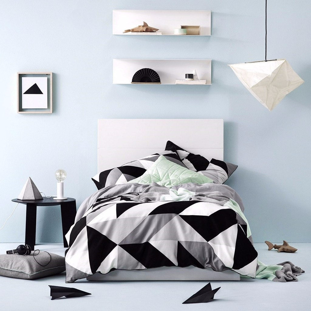 Aura | Cinq Monochrome SINGLE Duvet Cover | Shut the Front Door