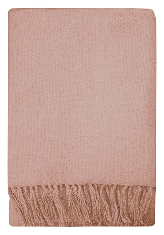 Mulberi | Rhapsody Throw Dusky Pink 130x150cm | Shut the Front Door