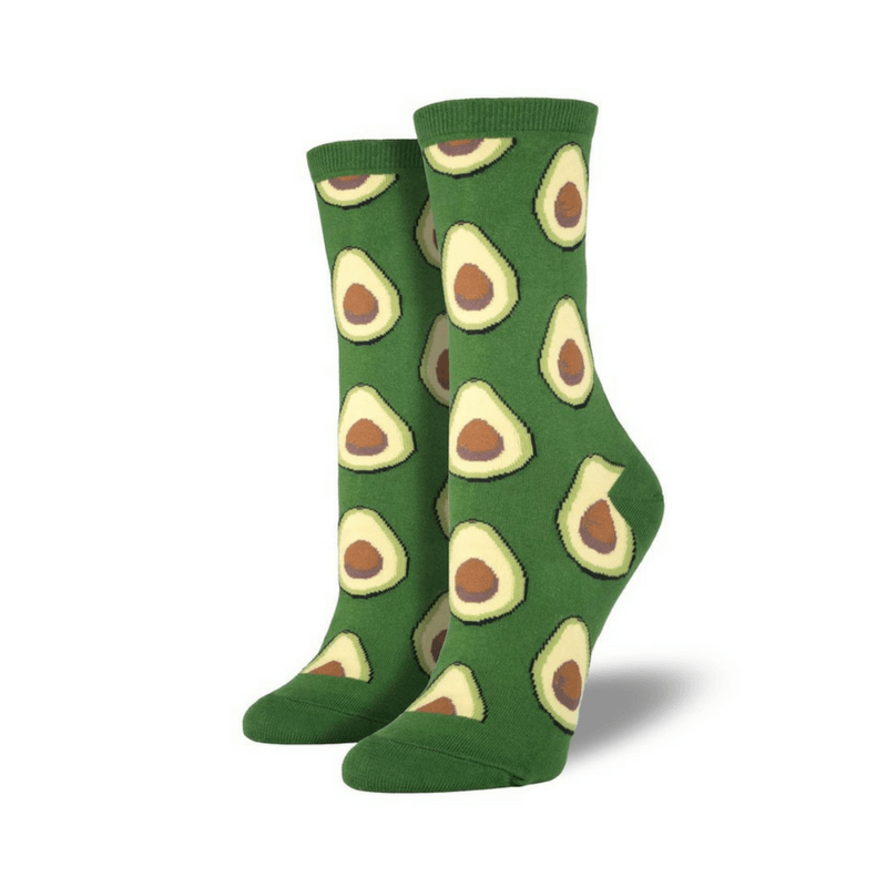 Socksmith | Socks Womens Crew Avocado Green | Shut the Front Door