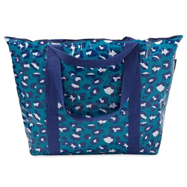 Project Ten | Zip Up Medium Tote Bag - Leopard | Shut the Front Door