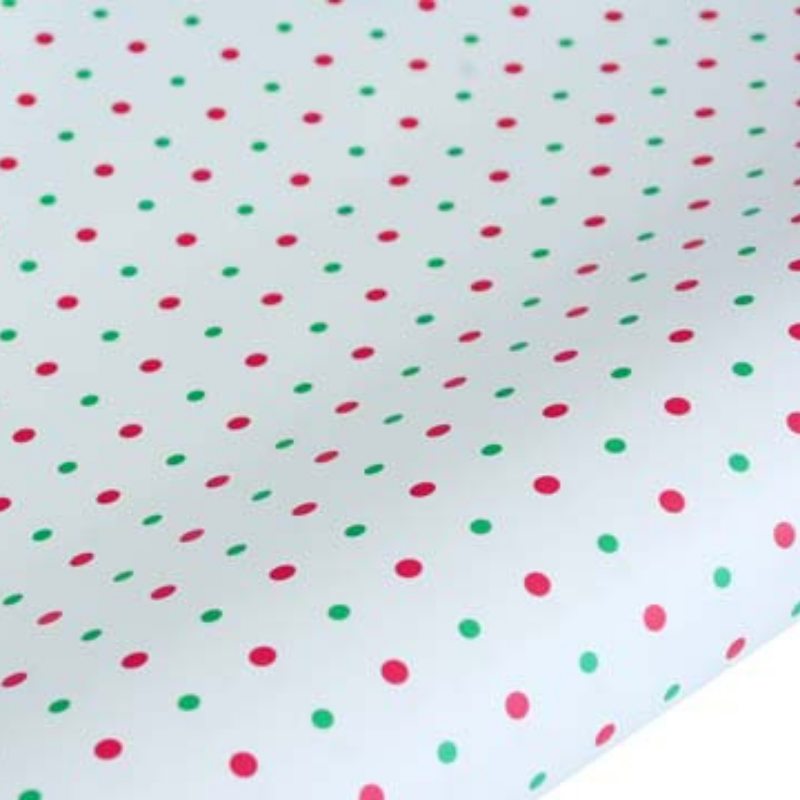 hiPP | Rollwrap - Mini Dots Red/Green 5m | Shut the Front Door