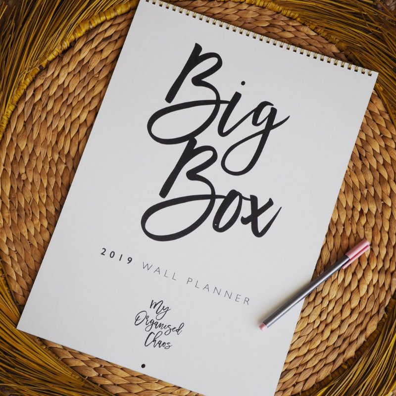 Write to Me Stationery | Big Box 2019 Wall Planner *PREORDER* | Shut the Front Door