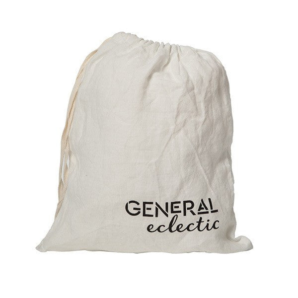 General Eclectic | Linen Flat Sheet White | Shut the Front Door