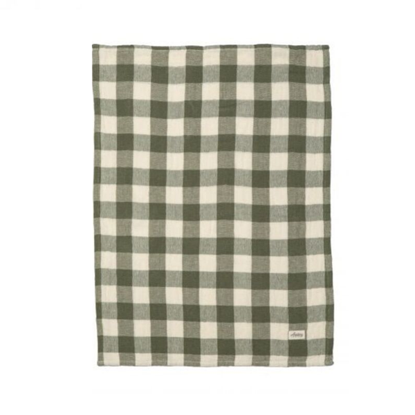 Academy Home | Hardy Gingham Tea Towel - Green Check | Shut the Front Door