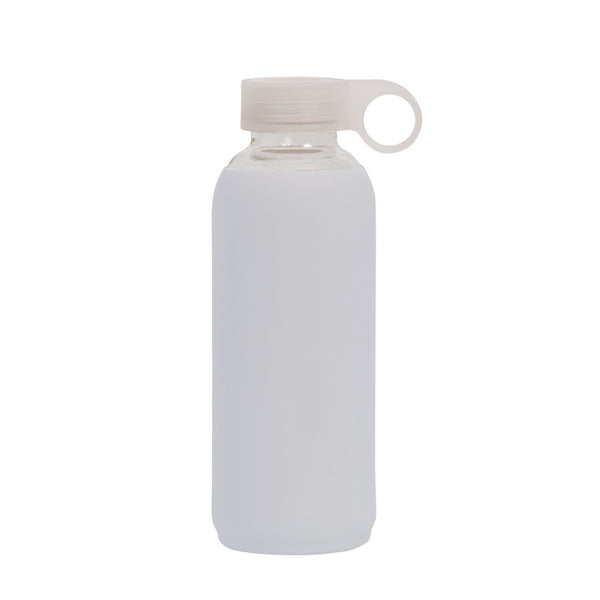 Glass Silicone Drink Bottle GREY