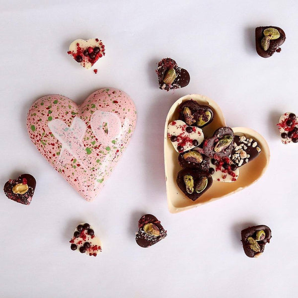 House of Chocolate | Handmade White Chocolate Heart for Her | Shut the Front Door
