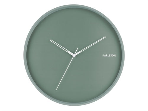 Karlsson | Hue Wall Clock - Green | Shut the Front Door