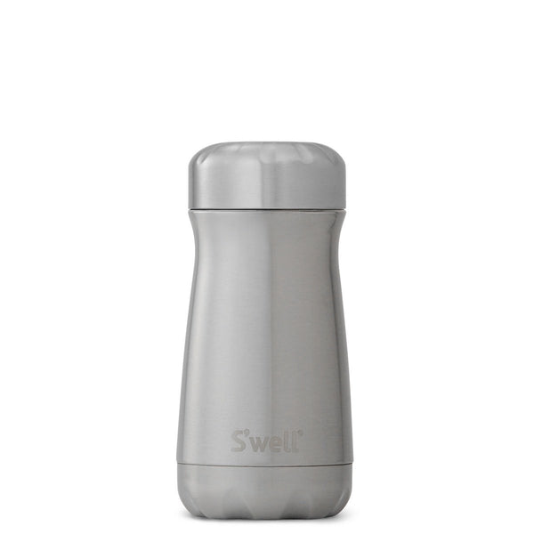 S'Well | S'Well Drink Bottle 350ml Traveller Shimmer Collection Silver Lining | Shut the Front Door