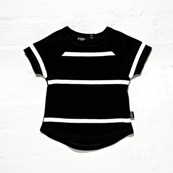 Kipp Kids | T-Shirt Three Stripe Black | Shut the Front Door