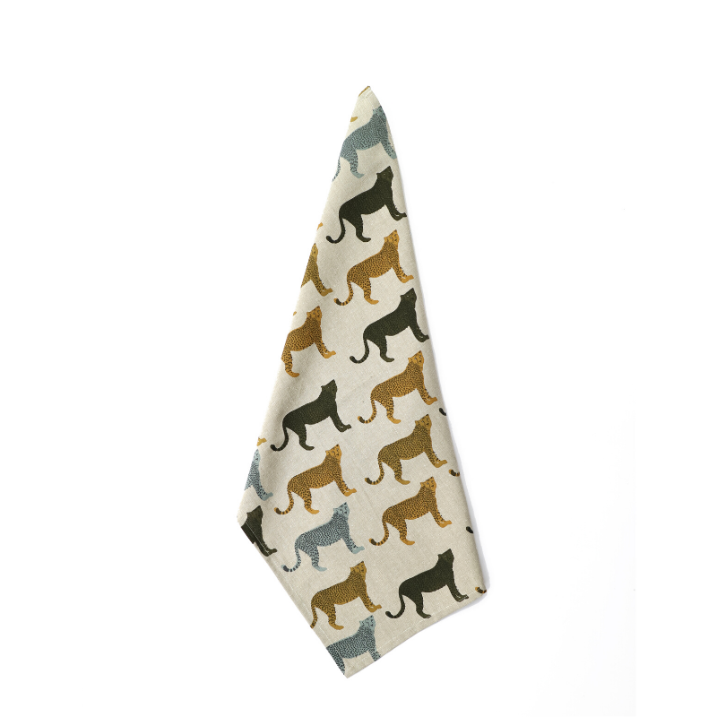 Raine & Humble | Cheetahs Gone Wild Tea Towel | Shut the Front Door