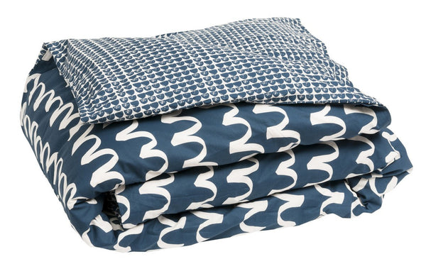 General Eclectic | Blue Waves Duvet Cover KING SINGLE | Shut the Front Door