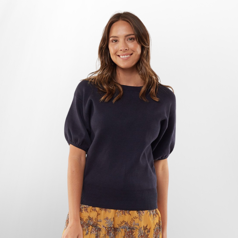 Foxwood | Cynthia Knit - Navy | Shut the Front Door