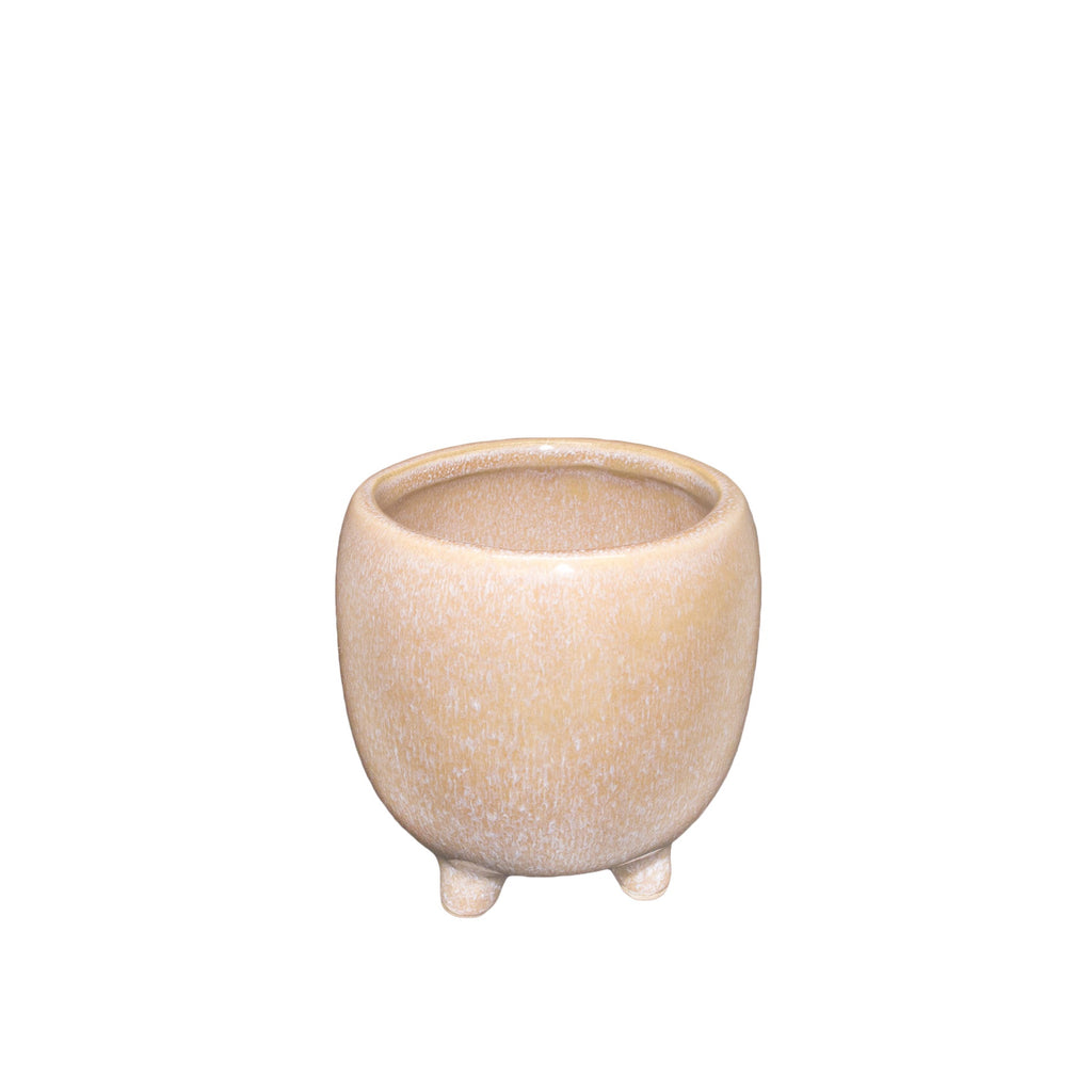 General Eclectic | Nariko Footed Planter - Rose Sand | Shut the Front Door
