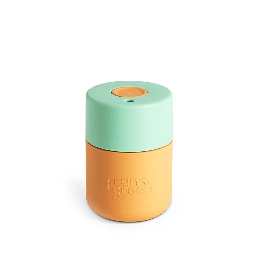 Frank Green | Frank Green Smart Cup 8oz Mid Orange/Dusty Jade/Mid Orange | Shut the Front Door