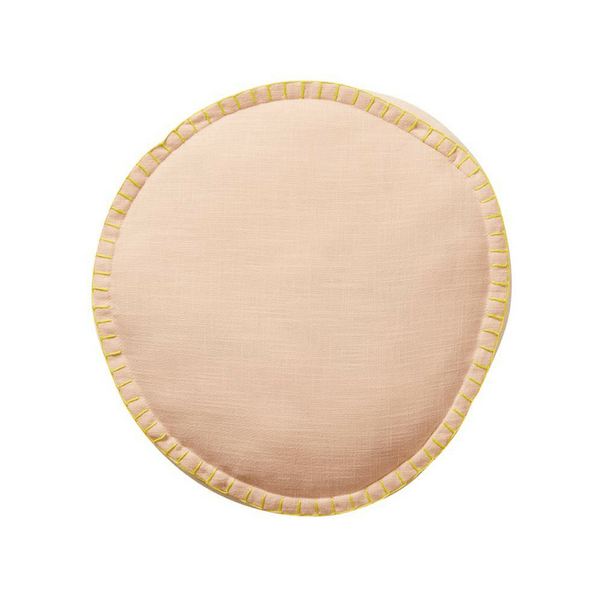 SAGE & CLARE | Rylie Round Cushion BLUSH | Shut the Front Door