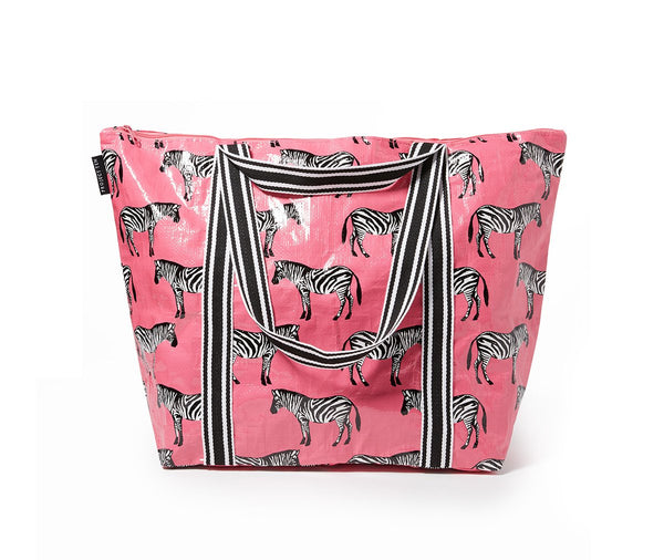 Project Ten | Zip Up Medium Tote Bag - Zebra | Shut the Front Door