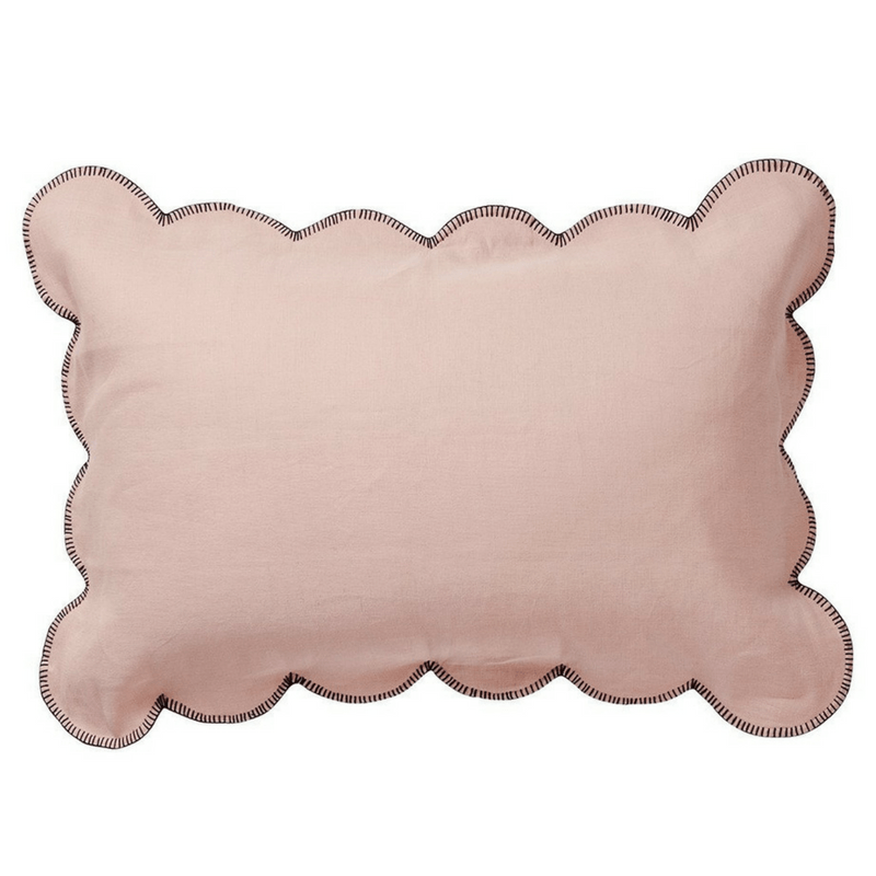 SAGE & CLARE | Willow Scallop Pillowcase CORAL | Shut the Front Door