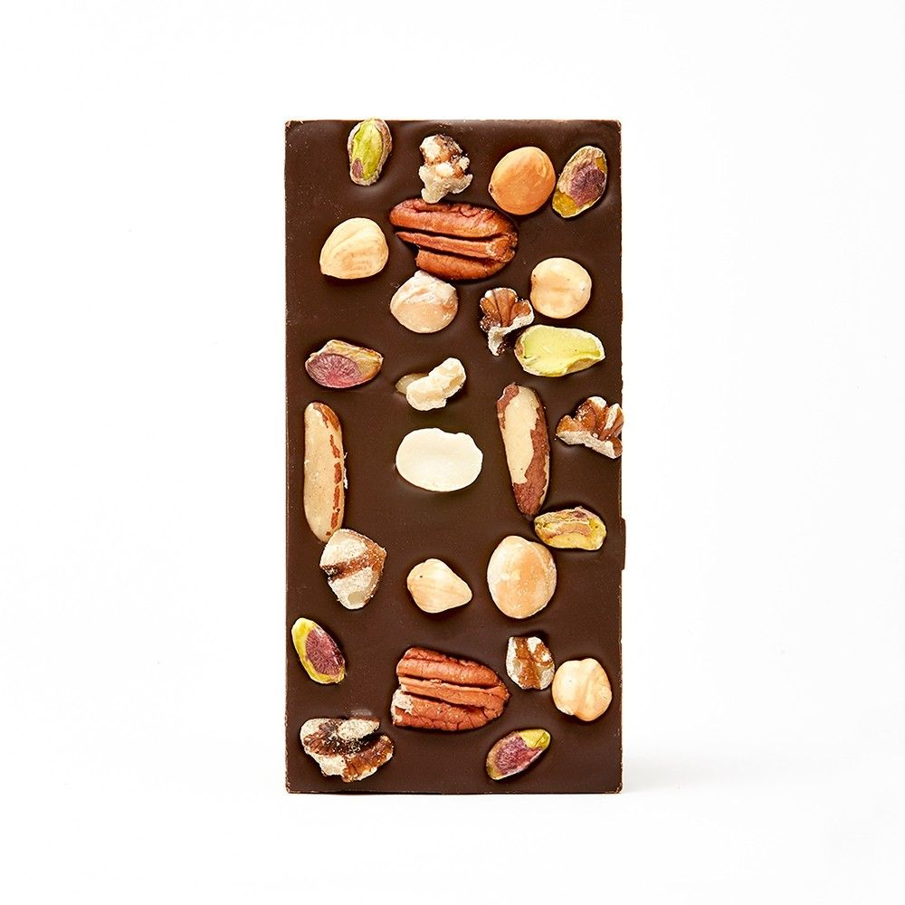 House of Chocolate | Dark Chocolate Bar Mixed Nuts | Shut the Front Door