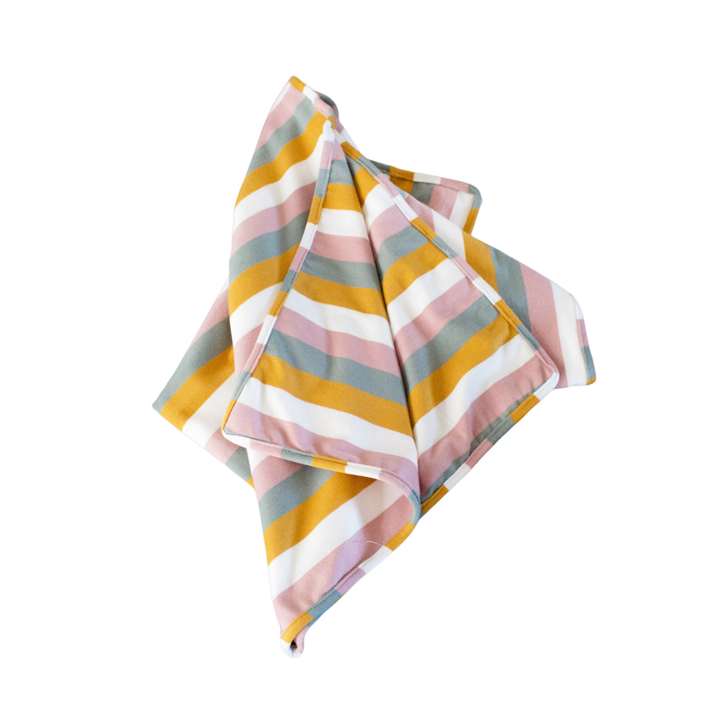 Lily and George | Pastel Rainbow Stripe Blanket | Shut the Front Door