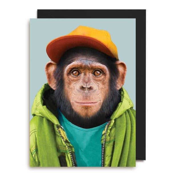 Lagom | Card Chimpanzee with Cap | Shut the Front Door