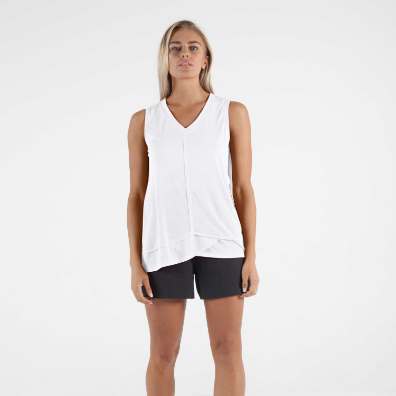 Betty Basics | Halle Tank - White | Shut the Front Door