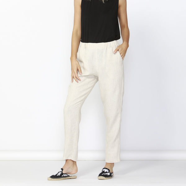 Betty Basics | Rocco Linen Pant Natural | Shut the Front Door