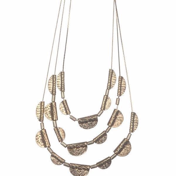 eb & ive | Lagos Necklace Brass | Shut the Front Door