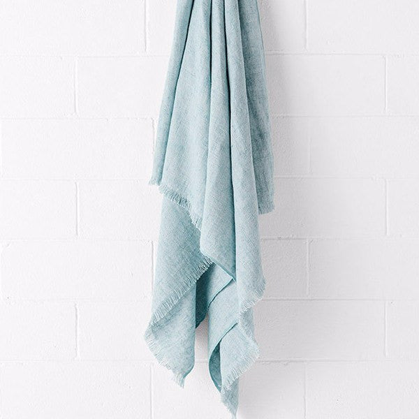Aura | Vintage Linen Throw GLACIER | Shut the Front Door