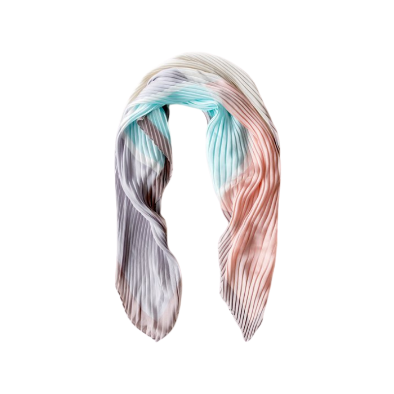Antler NZ | Pleated Block Scard - Pink/Blue/Grey | Shut the Front Door