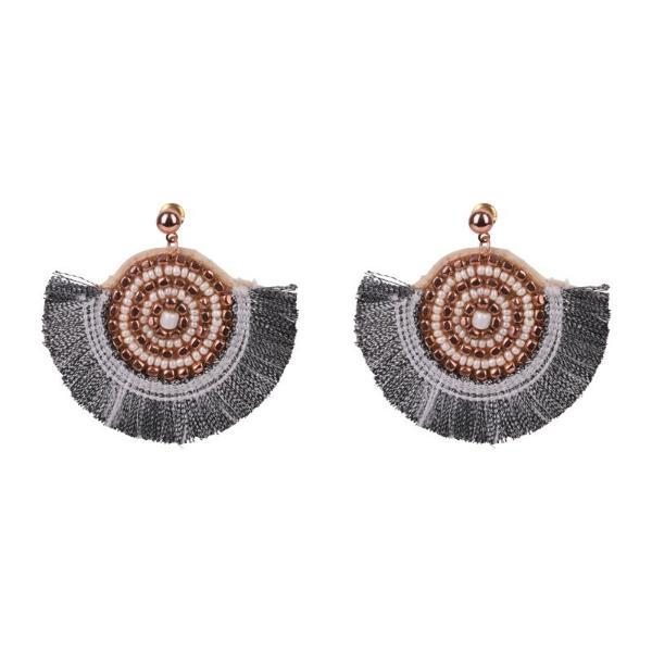 eb & ive | Grecia Fan Earrings Rose Gold | Shut the Front Door