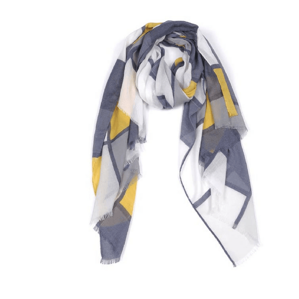 Indus Design | Womens' Scarf Bauhaus Gold/Slate | Shut the Front Door