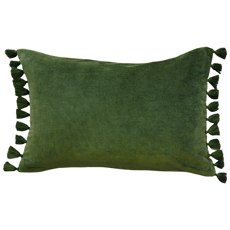 Mulberi | Este Velvet Cushion - Khaki Green | Shut the Front Door