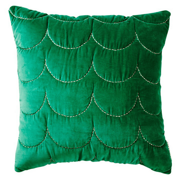 SAGE & CLARE | Bettina Velvet Sham EMERALD | Shut the Front Door