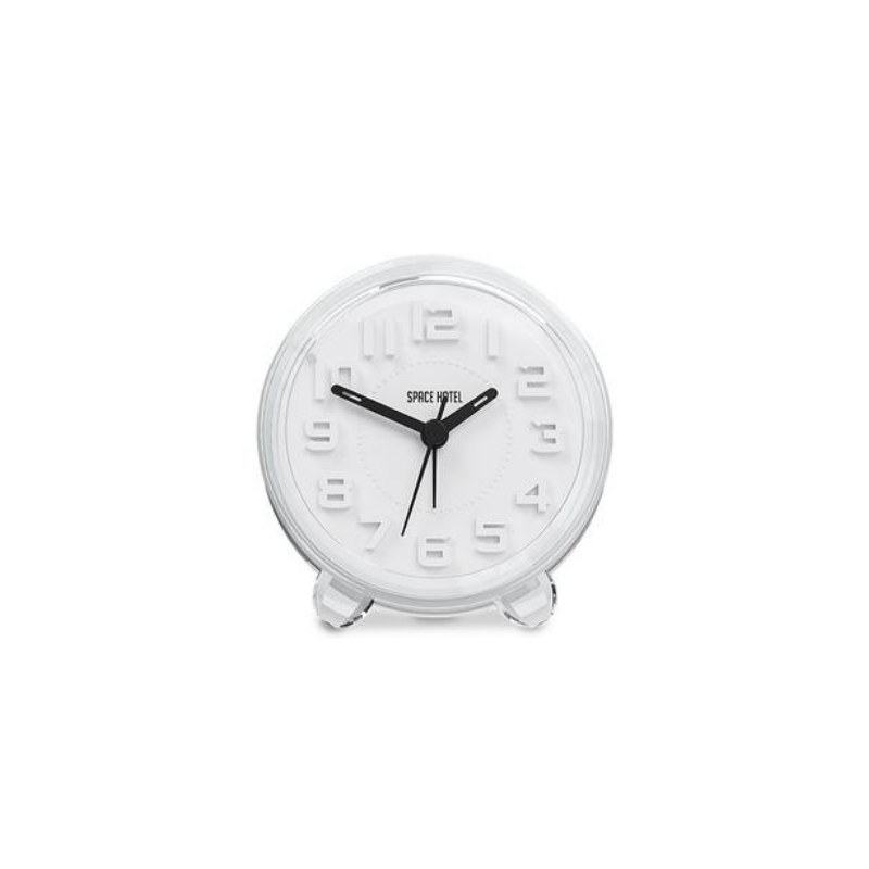 Space Hotel | Fearless Star Alarm Clock - White | Shut the Front Door