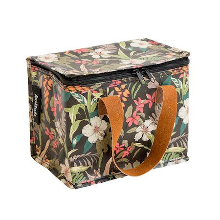 Kollab Lunch Box Hibiscus Floral Green Shut The Front