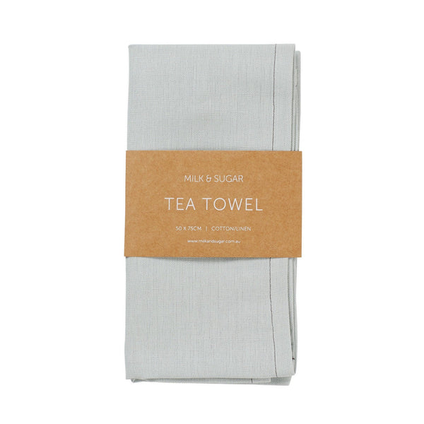 Milk & Sugar | Linen Tea Towel - Seafoam | Shut the Front Door