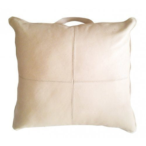 MRD home | Aren Leather Cushion 50 x 50cm NUDE | Shut the Front Door