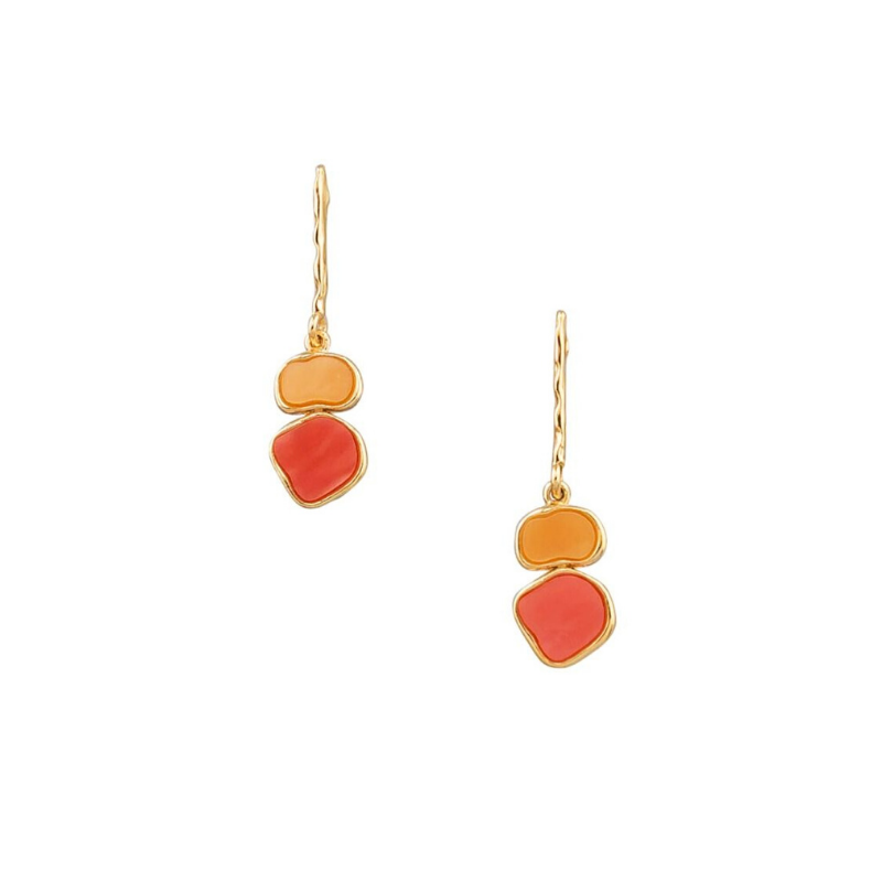 Tiger Tree | Art Drops Earrings Orange Citrus | Shut the Front Door
