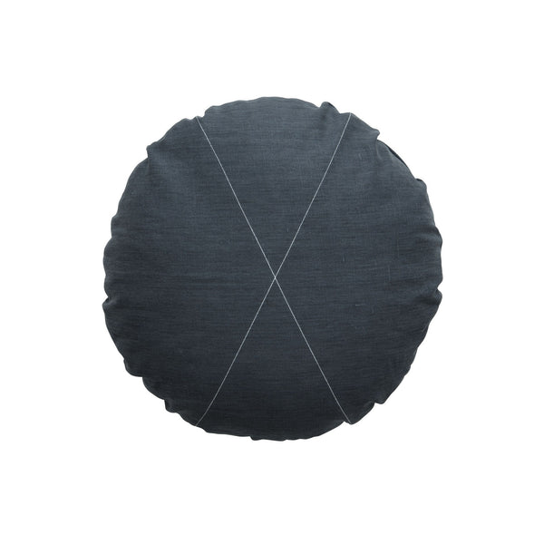 Milk & Sugar | Cushion Cross Round CHARCOAL | Shut the Front Door