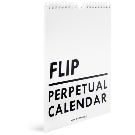 Made of Tomorrow | Perpetual Calendar Flip White | Shut the Front Door