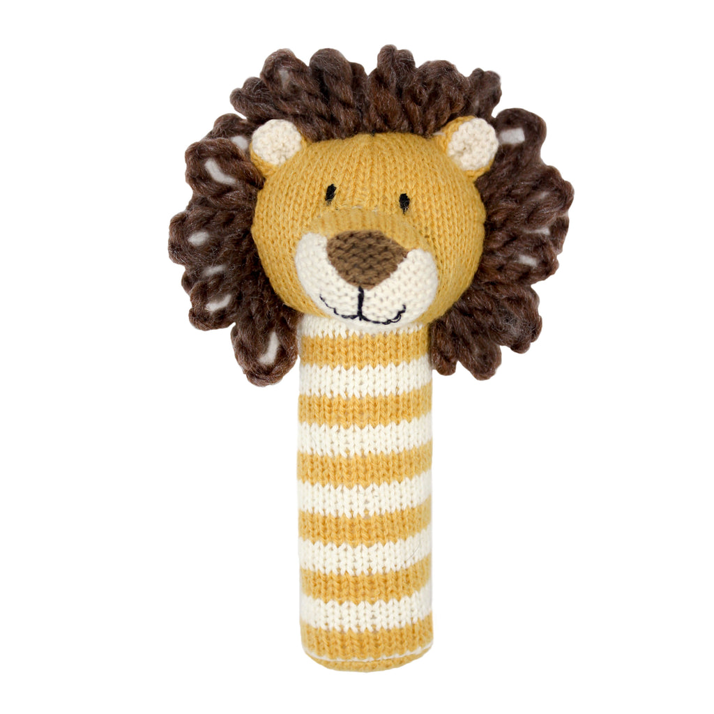 Lily and George | Arthur Stripey Lion Stick Rattle | Shut the Front Door