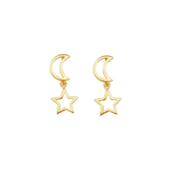 Tiger Tree | Gold Twinkle Moon Earrings | Shut the Front Door