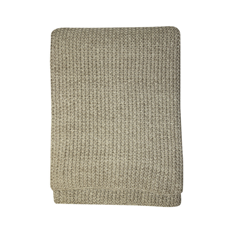 Mulberi | Milford Moss Stitch Throw - Stone/Natural | Shut the Front Door