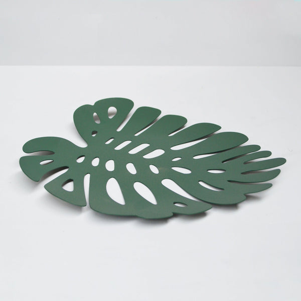 White Moose | Tray Monstera Leaf - Green | Shut the Front Door
