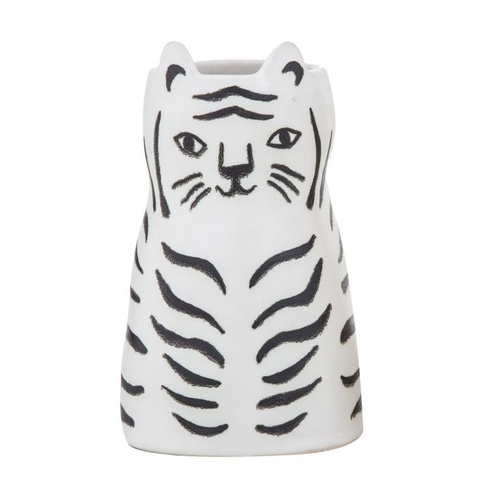 Emporium | Leo Lion Pot- White & Black | Shut the Front Door