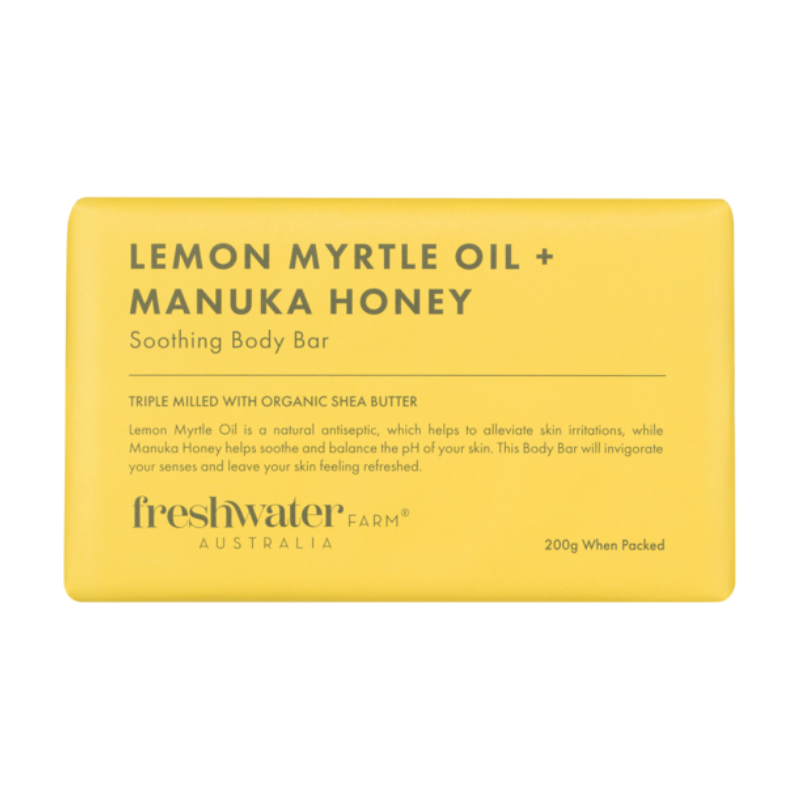 Freshwater Farm | Lemon Myrtle Oil & Manuka Body Bar | Shut the Front Door