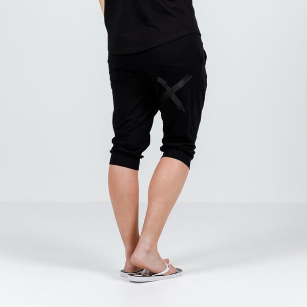 Home-lee | 3/4 Apartment Pants Black w Black X Spot | Shut the Front Door